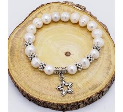 Star Charm Pearl Bracelet (BA-800029)