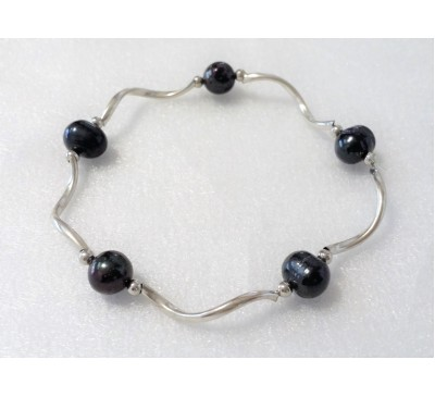 Pearl Stretchable Bracelet - Black (BA-903517)