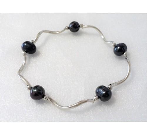 Pearl Stretchable Bracelet - Black (BA-903517)