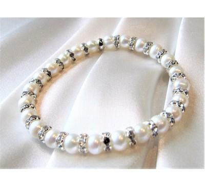 Pearl with Swarovski Bracelet (BA-906026)