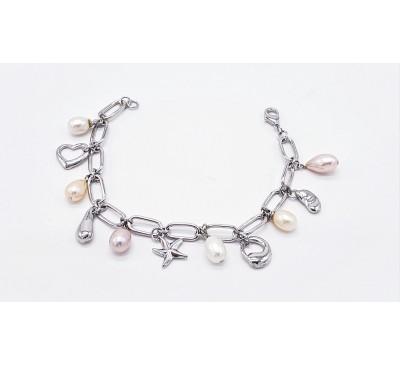 Pearl Charms Bracelet (BA-200621)
