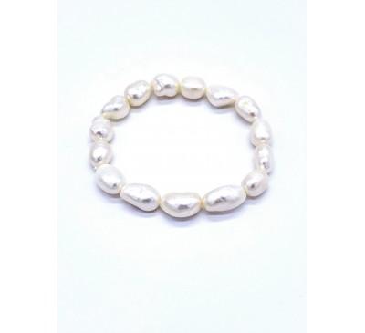 Pearl Stretchable Baroque Bracelet - BA-200711