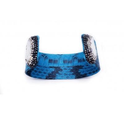 Python Pearl Bangle - Turquoise (LB-805087)