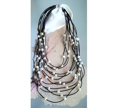 Bohemian Multi Strands Leather Necklace (LN-905031)