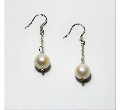 Pearl Sterling Hook Earrings (ED024)