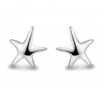 Starfish Sterling Silver Stud Earrings (ER-6220-05)
