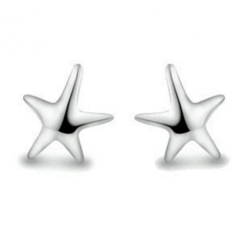 Starfish Sterling Silver Stud Earrings (ER-6220-05)