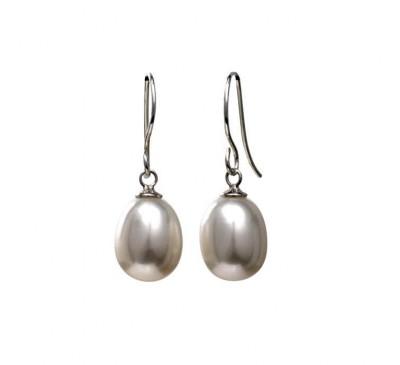 Single Pearl Sterling Earrings (ER-905077)