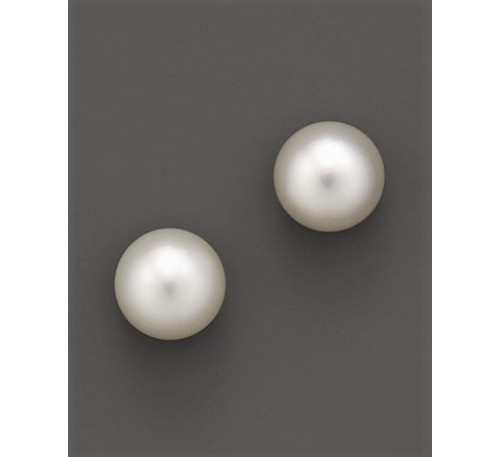 3-4 mm Pearl Sterling Stud Earrings (ER-907034)