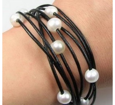 Bohemian Multi Strands Leather Bracelet (LBA-903082-101)