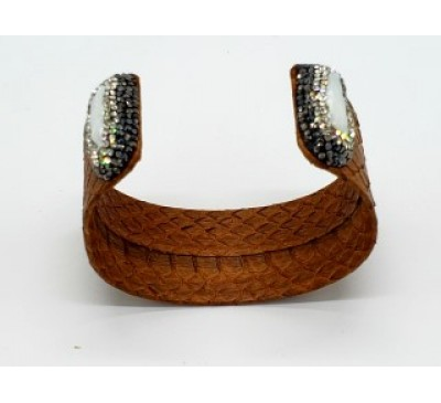 Python Pearl Bangle - Brown (LB-805085)