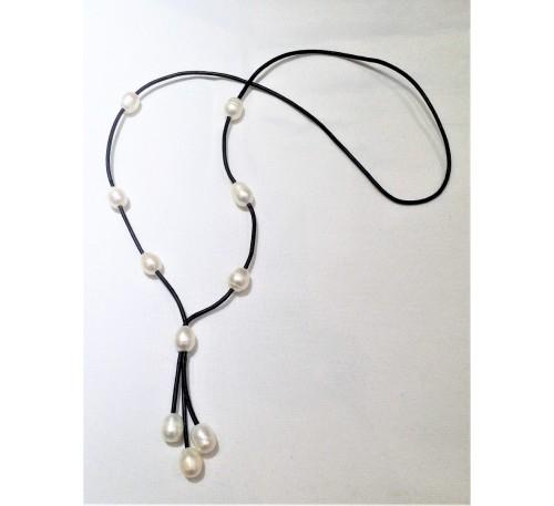 Bohemian Tassel Leather Necklace (LN-23102)