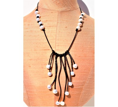 Tassel Leather Necklace (LN-906040)