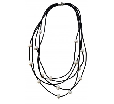 Bohemian Multi Strands Leather Necklace (LN-903297)