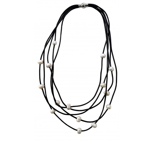 Bohemian Multi Strands Leather Necklace (LN-903297)