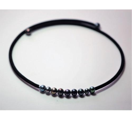 BOHO Pearl Choker - Black (NL-0801-10)