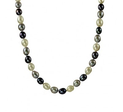 Royal Multi Color Pearl Necklace (NL-2503-35)