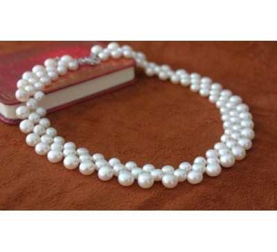 Classic White Pearl Necklace (NL-33301)