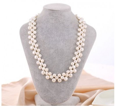 Classic Elegant Pearl Necklace - Champagne (NL-34031)