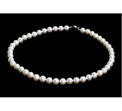 White Pearl Necklace (NL-3511-45)
