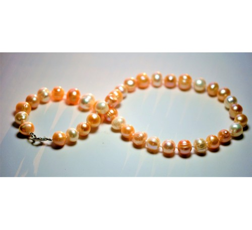 Circle Pearl Necklace (NL-903006-101)