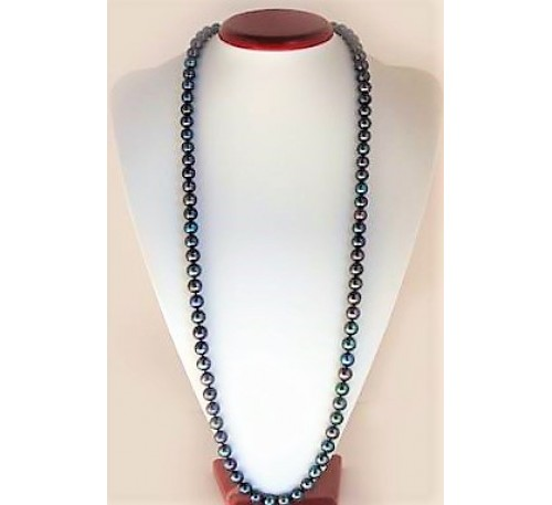 Classic Long Pearl Necklace (NL-903047)