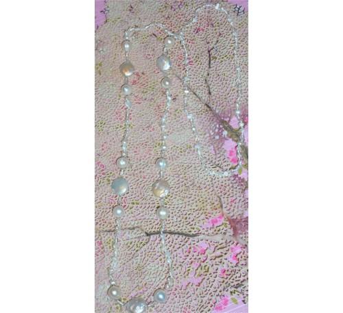 Opera Coin Pearl Necklace (NLM-3001-30)