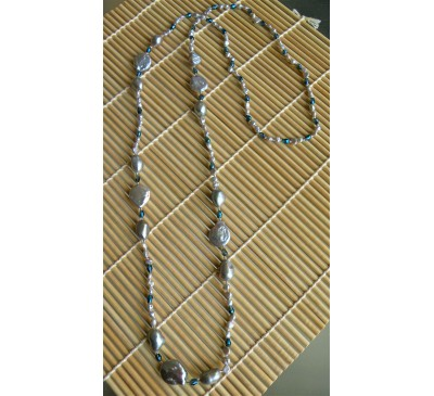 Opera Coin Pearl Necklace (NLM-3003-30)