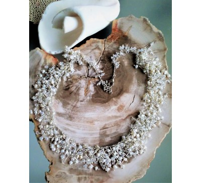 Galaxy White Seed Pearl Necklace (NLM-6500)