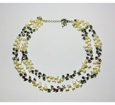 Galaxy Double Strands Necklace (NLM-903270)