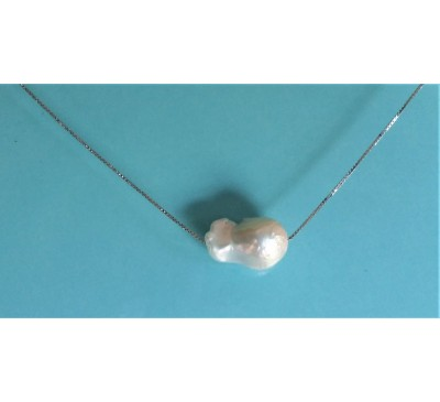 Pearl Sterling Silver Necklace (PD-1589-20)