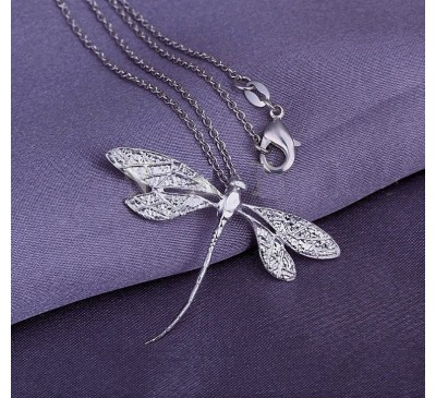 925 Sterling Silver Dragonfly Pendant (PD-903407)