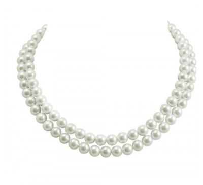 Classic Double Strand Pearl Necklace (PN-907504)