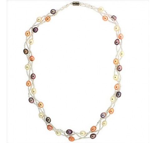 Classic Triple Strands Necklace (PN-903511)