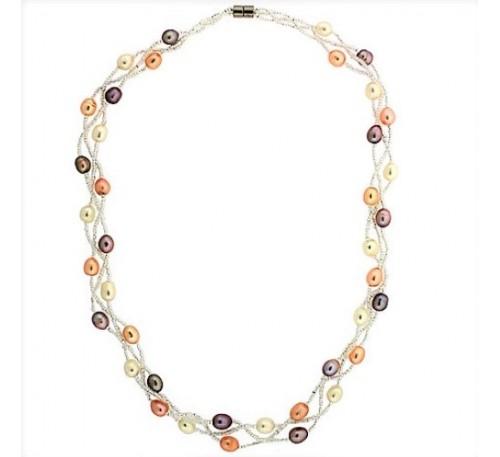 Classic Triple Strands Necklace (PN-903511)