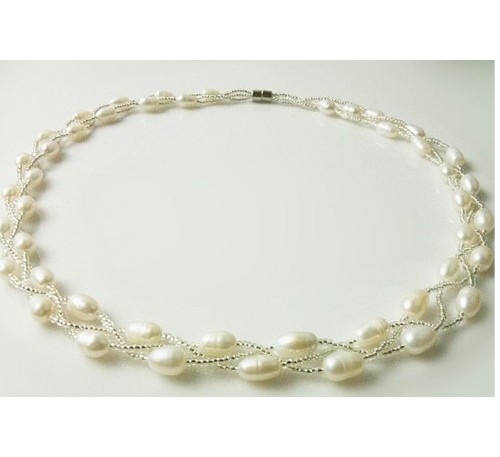 Classic Triple Strands Necklace (PN-903513)