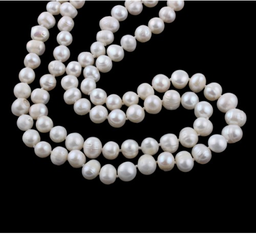 Classic Long Pearl Necklace (PN-903534)