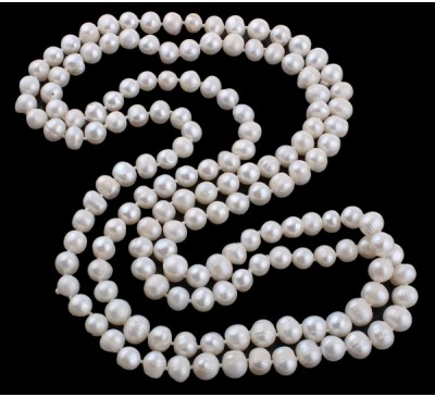 Classic Long Pearl Necklace (PN-905024)