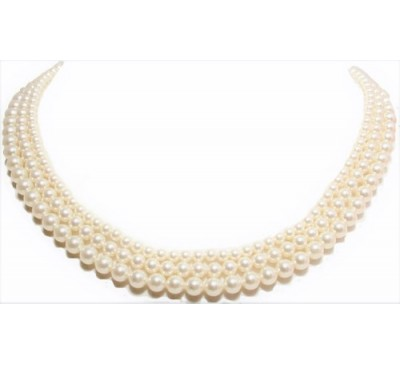 3 Strands Mixed Pearl Necklace (PN-907503)