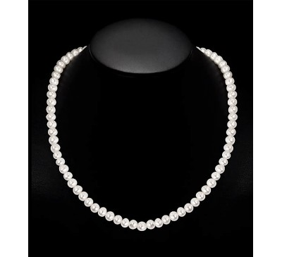 8 mm Royal White Pearl Necklace (PN007)