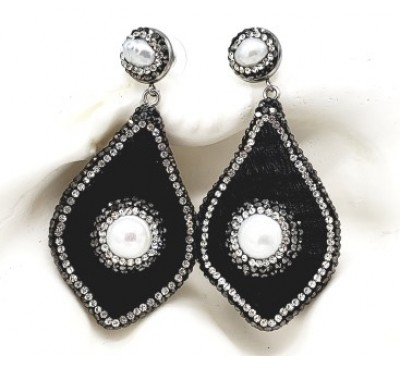 Python Earrings - Black (LE-805090)