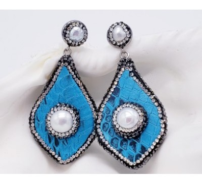 Python Earrings - Turquoise (LE-805089)