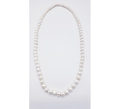 Classic Long Strand Pearl Necklace - PN-800013