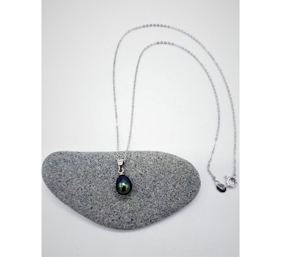 7-8mm Single Pearl Pendant Only - Black / Peacock Color (PD-805129)