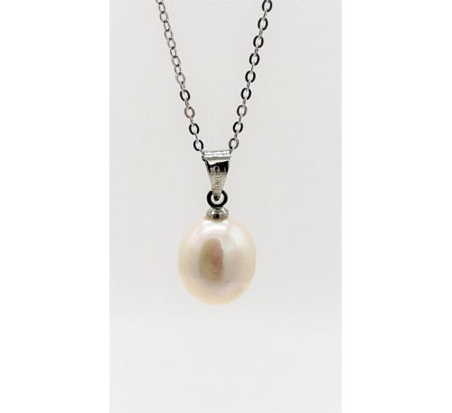 7-8mm Single White Pearl Pendant Only - (PD-805131)