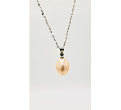 7-8mm Single Pearl Pendant Only - Champagne Color (PD-805132)