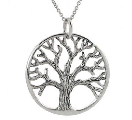 Tree of Life Sterling Silver Necklace  (SN-903058)