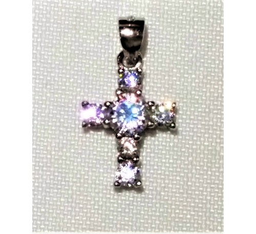 Kids Swarovski Sterling Silver Cross (SP-903319)