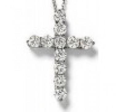CZ Cross Sterling Silver  (SN-905009)