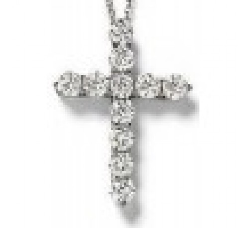 CZ Cross Sterling Silver  (SN-905009)